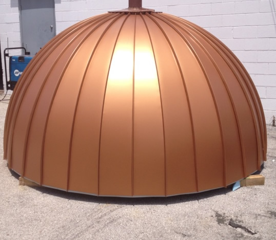Custom fabricated copper dome