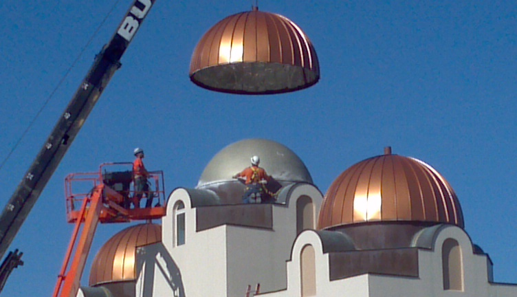 Installation Copper Domes