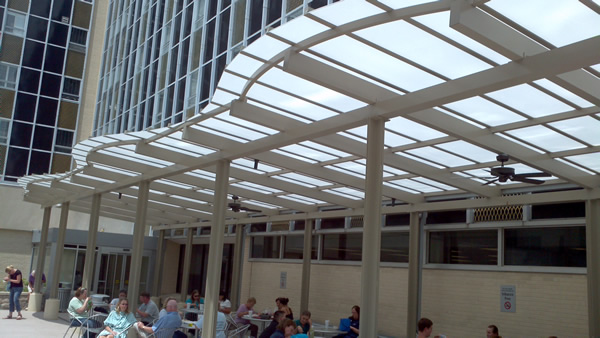 St johns mercy medical sun canopy dining area